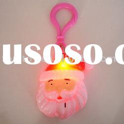 Flashing Santa Claus keychain with music