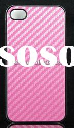 For iphone 4g 4S New design shiny leather cover hard case PINK