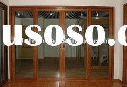 high quality aluminum wood door for house