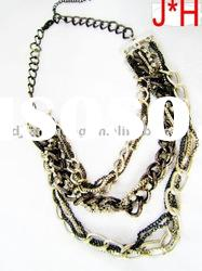 2011 fashion women jewelry of mix color chains necklace