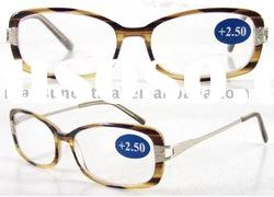2012 Latest Power Acetate Reading Glasses with Demi (RA511028)
