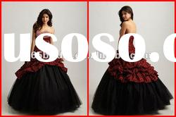 2012 New Glamorous Beaded Strapless Taffeta Pleated Ball Gown quinceanera dresses