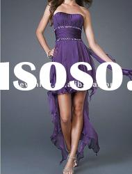 2012 New Style Fashion fabulous short and front strapless purple Prom Dresses