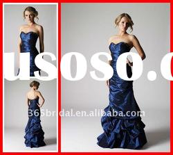 2012 Pleated Sheath/Column Sweetheart Beaded Taffeta Evening Dress