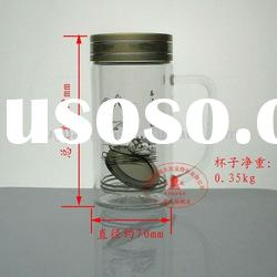 220ML FGH-2128 Double-layer nami glass cup with handle