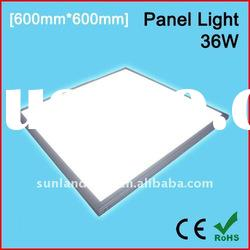 36w energy saving led flat panel light/led panel lighting