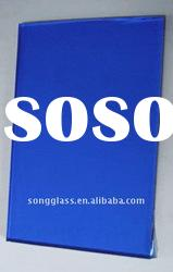 4mm 5mm 6mm Dark Blue Reflective Float Glass