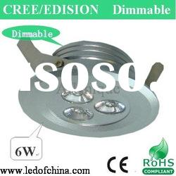 6W high power dimmable LED downlight