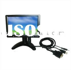 "7"" TFT-LCD Digital Touch Screen Monitor with VGA/RCA/S-video"