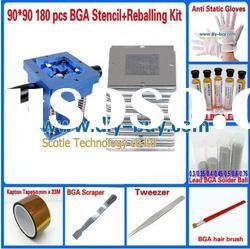 90*90 180 pcs BGA Stencils +Reballing Kit for Repairing Computer/ Notebook and Wii/ PS3/ Xbox360