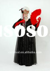 Black carnival costumes/Women fancy dress/Long party costumes(BSWC-0167)