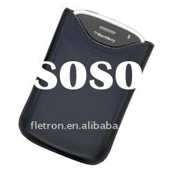 Blue Leather Case Pouch For Blackberry Torch 9000