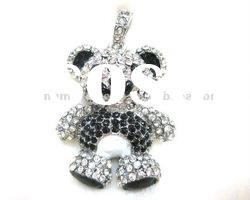 Cute Bear jewelry usb with original flash disk for pandant