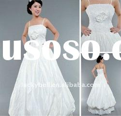 Elegant Cheap A-Line Spaghetti Strap Wedding dress