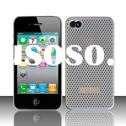 Fashion net perforated silicon cell phone case for iphone 4G