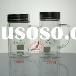 Fu Guang 320ML FGH-2193 Double-layer office glass cup