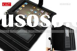 Genuine Leather Smart Cover Stand Case BLACK FOR ipad2