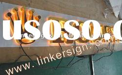 Gold-finish stainless steel led channel letter