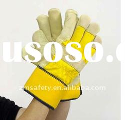 High Quality Cow Grain Leather Work Gloves