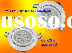 High power Cree led recessed downlights 7W 14W 21W