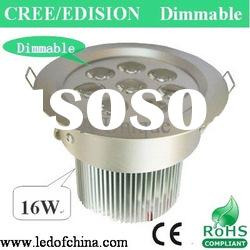 LED dimmable high power led downlight 8W 16W
