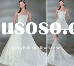 Latest Unusual Embroidered A-Line Wedding dress