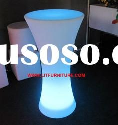 Lighting plastic table/outdoor plastic table&chairs