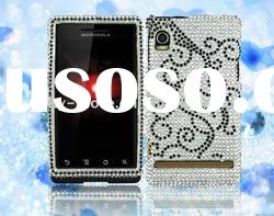 New style rhinestone mobile phone case for MOT Droid A855