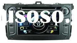 Newest car dvd gps navigation Special for TOYOTA Corolla 3D menu