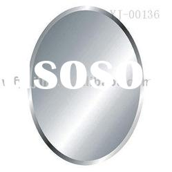 Oval Wall Silver Mirror With Beveled Edge