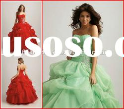 PYN2102 Glamorous Applique Strapless Organza Ball Gown quinceanera dresses 2012