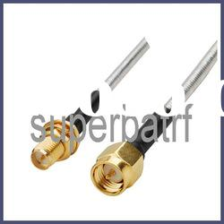 Pigtail RP-SMA female to SMA male Semi-Flexible cable RG402