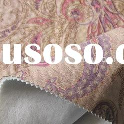 Printed Suede Fabric with bonding / Suede fabric /Sofa fabric