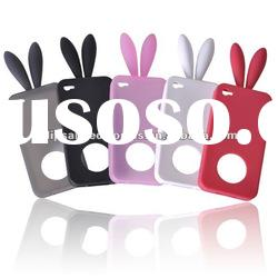 Rabbit ear silicone mobile phone case for iphone 4