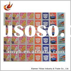Self adhesive 2011 cartoon stickers and decals