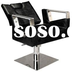 Stainless steel reclining barber chair