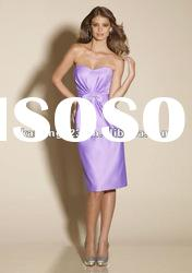 Sweetheart Strapless Sheath Fitted Knee-length Bridesmaid Dresses Cheap