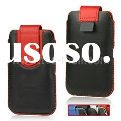 Vertical Leather Pouch Case Cover for iPhone 4S 4, Size: 7.5 x 12.5 (L x H)