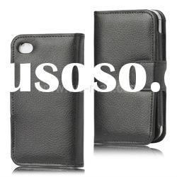 Wallet Flip Leather Case for iPhone 4 4S