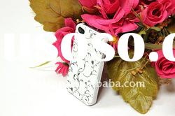 White pattern For iphone 4 4g 4S tyre design silicone case