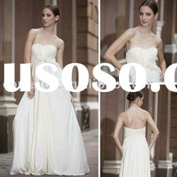 Wholesale little white strapless prom gown 56255