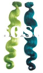 Wholesale super top quality body wave human hair weft