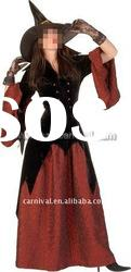Women long Halloween witch party costume/Lady witch costumes for 2012(BSWC-0050)