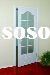 Wooden Glass Door prefinished white
