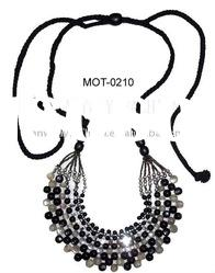 beaded motif/neckline