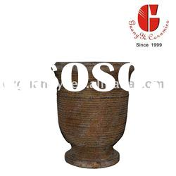 cup shape terracotta flower pot &planter