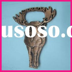 fashion canada deer head animal shaped metal beer bottle opener souvenirs gift can opener
