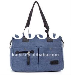 fashionable design canvas ladies shopping hand bag(KY-00133)