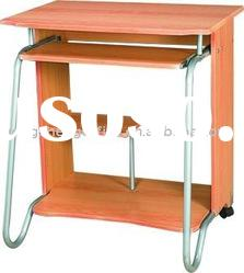 glass steel and wooden computer table (YS-817)