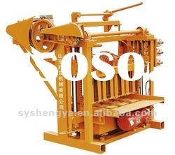 manual concrete hollow block making machine QMJ4-45